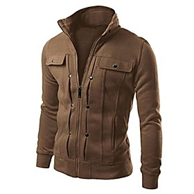 butamp; #39;s long sleeve hoodie side zip hooded sweatshirt tops slim fit coat outwear amp; #40;coffee,xxlamp; #41;
