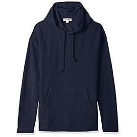 amazon brand - menamp; #39;s long-sleeve slub thermal pullover hoodie, navy, x-small
