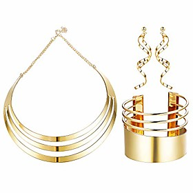 choker necklace set wide cuff bangle bracelets statement dangle earrings jewelry for women Net Dimensions:0.0000.0000.000; Shipping Weight:0.050; Package Dimensions:0.0000.0000.000; Net Weight:0.000; Listing Date:10/30/2020; Special selected products:COD