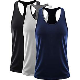 men's 3 pack dry fit workout running muscle tank top,5070 black/grey/navy blue,us 2xl,eu 3xl