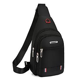 Men's Bags Nylon Sling Shoulder Bag Zipper for Daily / Outdoor Black / Blue / Brown