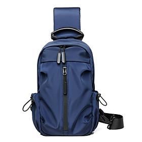 Men's Bags Oxford Cloth / Polyester Sling Shoulder Bag Zipper for Daily / Outdoor Black / Blue / Dark Gray