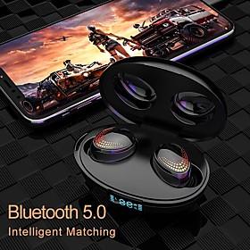 k1 draadloze oordopjes tws hoofdtelefoon bluetooth5.0 stereo met microfoon met volumeregeling met oplaaddoos slimme aanraakbediening voor mobiele tel