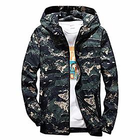 camouflage hooded jacket mens hoodie waterproof windproof outdoor coat