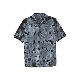 butamp; #39;s big amp; tall piqué polo shirt - tall - 6xl, royal blue marble