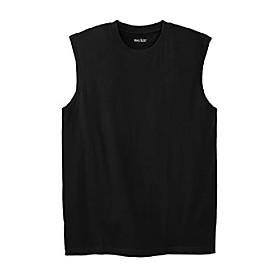 men's big amp; tall lightweight muscle t-shirt - big-2xl, heather deep purple