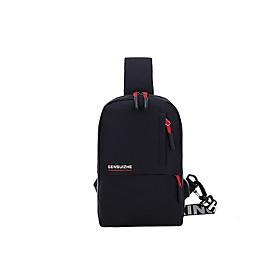 Men's Bags Polyester / Nylon Sling Shoulder Bag Pattern / Print Zipper for Daily / Outdoor Black Grey / Black / Dark Gray