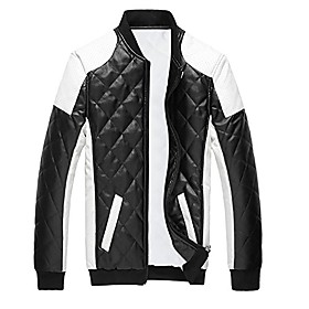 cloud style men's latticed baseball bomber jacket slim fit coat, small, black