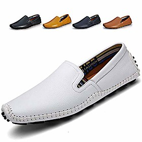 men's driving shoes leather fashion slipper casual slip on loafers shoes in summer mens mules shoes breathable diameter-zinroy slip-on loafers white nslfs930-w