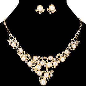 Women's Jewelry Set Bridal Jewelry Sets Cut Out Flower Fashion Imitation Pearl Gold Plated Earrings Jewelry Gold For Christmas Wedding Halloween Party Evening Gender:Women's; Quantity:1 set; Theme:Flower; Shape:Geometric; Style:Fashion; Jewelry Type:Jewelry Set,Bridal Jewelry Sets; Occasion:Halloween,Gift,Christmas,Wedding,Party Evening; Material:Alloy,Gold Plated,Rhinestone,Imitation Pearl; Design:Cut Out; Brand:Missing U; Shipping Weight:0.07; Listing Date:10/20/2020