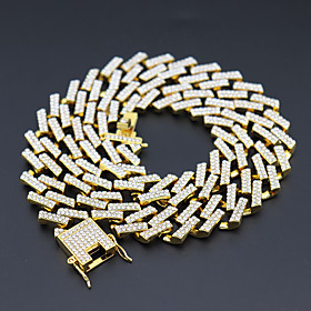Men's Necklace Cuban Link Friends European Alloy Gold Silver 50 cm Necklace Jewelry For Street