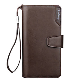 Men's Bags PU Leather Wallet Zipper for Daily Black / Coffee