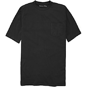 100% cotton pocket t-shirt black 6xlt #481a