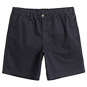 butamp; #39;s classic-fit 7 stretch cotton casual shorts with elastic waistband, multi-pocket summer walk short black grey