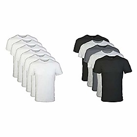 butamp; #39;s crew t-shirt multipack, white amp; #40;6 packamp; #41;, xx-large menamp; #39;s crew t-shirt multipack, assorted black/grey amp; #40;5 packamp; #4
