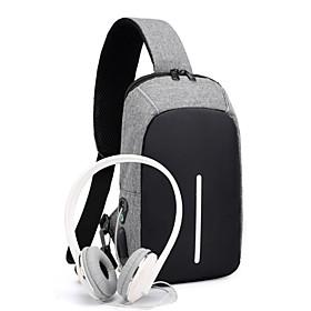 Men's Bags Oxford Cloth Sling Shoulder Bag Zipper for Daily / Outdoor Black / Blue / Gray