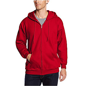 Men's Activewear Set Sweatshirt Solid Colored Hoodies Sweatshirts  Black Blue Red