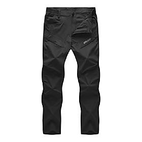 men's lightweight hiking cargo pants upf 50 quick dry waterproof outdoor pants black l