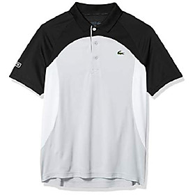butamp; #39;s sport short sleeve colorblock ultra dry polo shirt, black/calluna-white-white, s