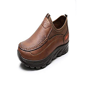 men's loafer large size working shoes for men walking shoes fashionable and succinct leisure business work shoes(brown,10)