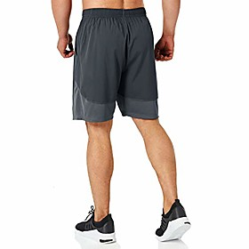 men's 7 workout running shorts with zipper pocket quick dry gym athletic shorts lightweight(dark gray-m)