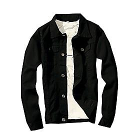 classic denim jacket men slim fit fashion jeans coat amp; #40;s, blackamp; #41;