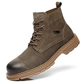 Men's Boots British Daily Pigskin Black / Khaki Fall / Winter