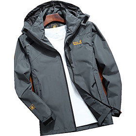 Men's Vest Parka Solid Colored Nylon POLY Black / Blue / Red L / XL / XXL