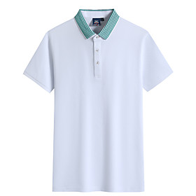 Men's 1 Piece Golf Polo Shirts Solid Color Breathable Quick Dry Soft Summer Athleisure Outdoor / Cotton / Short Sleeve / Micro-elastic