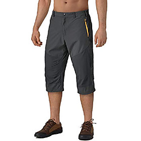 butamp; #39;s classic capri 3/4 cropped sweatpants camping quick drying casual shorts, 33 grey