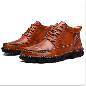 Men's Boots Sporty Daily PU Breathable Black / Brown Fall