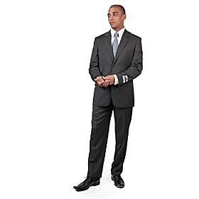 grey classic pinstripe suit amp; #40;coat 42 r amp; #40;regularamp; #41; / pants waist 36amp; #41;
