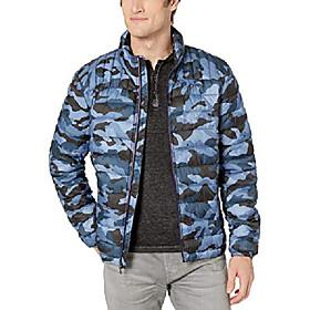 butamp; #39;s ultra loft lightweight packable puffer jacket amp; #40;standard and big amp; tallamp; #41;, navy camouflage, small