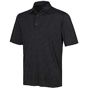 greg norman mens play dry ml75 polyester short sleeve striped polo shirt (black, xx-large)