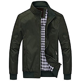 men's active lightweight softshell zipper bomber jacket (large, green)