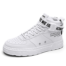 Men's Boots Casual Daily Outdoor PU Breathable Wear Proof White / Black / Light Grey Winter