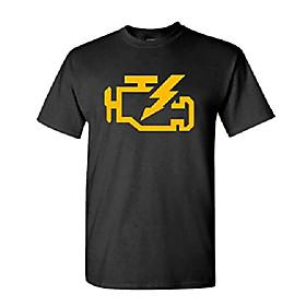 check engine light mechanic auto repair - cotton t-shirt, 2xl, black usa made