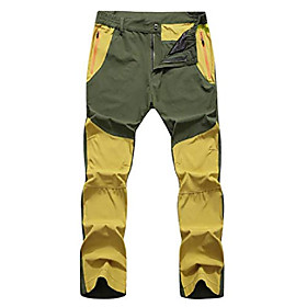 men's lightweight quick dry outdoor pants yellow amp; army green tag 3xl
