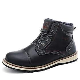Men's Boots Casual Daily PU Booties / Ankle Boots Black / Blue / Brown Fall