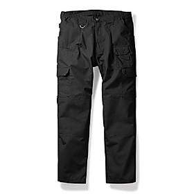 men's lightweight ripstop tactical pants, outdoor hiking climbing cargo black 34