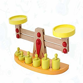 wooden montessori math materials balance scale set preschool educational learning toys for children (balance scale style 3) Package Dimensions:1.01.01.0; Listing Date:11/10/2020