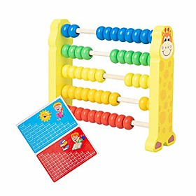 iq builder丨challenging iq games丨kid cartoon giraffe caterpillar wooden beads abacus count frame math learning toy丨mental exercises for sharp young minds - 100% Package Dimensions:1.01.01.0; Listing Date:11/25/2020