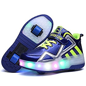 Boys' Girls' Sneakers LED Shoes USB Charging PU Leather LED Shoes Christmas White Blue Red All Seasons Category:Sneakers; Upper Materials:PU Leather; Season:All Seasons; Gender:Girls',Boys'; Style:USB Charging,LED Shoes; Occasion:Christmas; Shipping Weight:1.150; Listing Date:11/10/2020; 2020 Trends:Roller Shoes,Heelys Shoes,LED Shoes; Foot Length:null
