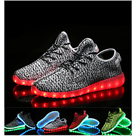 Men's Unisex Trainers Athletic Shoes LED Shoes Light Up Shoes LED USB Charging Athletic Casual Running Shoes Walking Shoes Knit Tulle Black Red Blue Summer Fal Category:Trainers Athletic Shoes; Upper Materials:Knit,Tulle; Lining Materials:Tulle; Season:Fall,Summer; Gender:Unisex,Men's; Range:EU42; Activity:Walking Shoes,Running Shoes; Style:USB Charging,LED; Outsole Materials:TR; Occasion:Casual,Athletic; Pattern:Solid Colored; Insole Materials:EVA; Shipping Weight:0.605; Listing Date:04/25/2018; 2020 Trends:Light Up Shoes,LED Shoes; Foot Length:; Size chart date source:Provided by Supplier.; Base Categories:Men's Shoes,Shoes,Apparel  Accessories