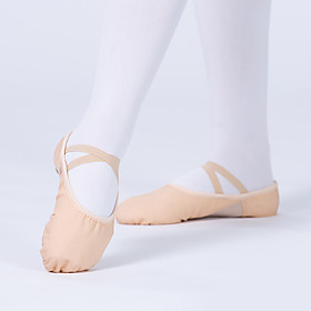 Women's Dance Shoes Ballet Shoes Practice Trainning Dance Shoes Flat Flat Heel khaki Loafer Adults' Category:Practice Trainning Dance Shoes,Ballet Shoes; Upper Materials:Canvas; Heel Type:Flat Heel; Actual Heel Height:0.39; Gender:Women's; Style:Flat; Heel Height(inch):<1; Outsole Materials:Leather; Occasion:Training,Performance; Age Group:Adults'; Closure Type:Loafer; Listing Date:11/25/2020; Production mode:External procurement; Foot Length:; Size chart date source:Provided by Supplier.
