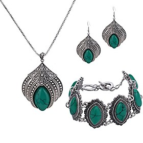 jewelry sets silver plated retro green synthesis-turquoise flower pendant necklace drop earrings bracelet Net Dimensions:0.0000.0000.000; Shipping Weight:0.140; Package Dimensions:0.0000.0000.000; Net Weight:0.000; Listing Date:11/02/2020; Special selected products:COD