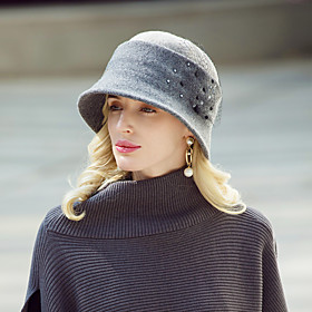 Headwear Casual / Daily Wool / Acrylic Hats with Beading 1pc Casual / Daily Wear Headpiece