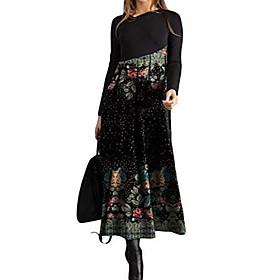 ladies leisure dress elegant round neck midi dresses blouse dresses ball gown party dress women long sleeve wrap dresses evening dresses party dress christmas Listing Date:12/28/2020