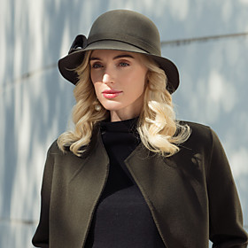 Headwear Casual / Daily 100% Wool Hats with Solid 1pc Casual / Daily Wear Headpiece