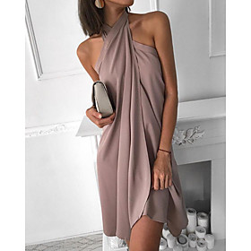 blush summer halter dress